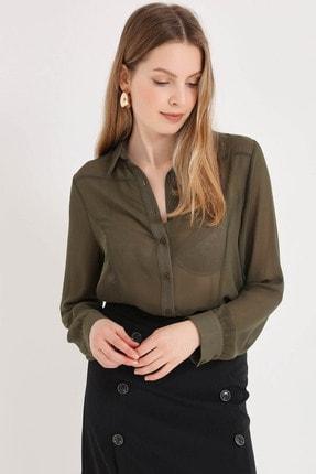 Home Store Kadın Olive Gömlek 20230093053