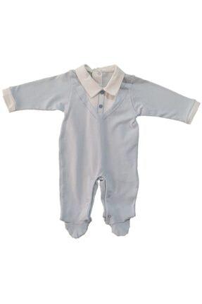 Bebetto Gömlek Modelli Çıtçıtlı Patikli Kız Ve Erkek Bebek Tulum Takımı