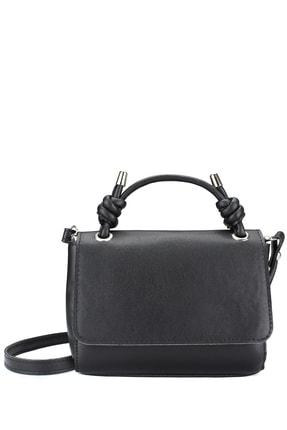 Housebags Kadın Düğümlü Siyah Çapraz Çanta 187