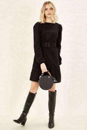 Arma Life Kadın Siyah Eteği Volanlı Elbise