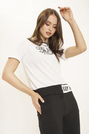 Arma Life Baskılı T-shirt - Beyaz