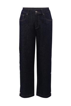 W Collection Kadın Mavi Bol Kesimli Jean Pantolon