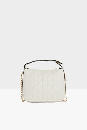 Bagmori Kadın Beyaz Askı Tokalı Nakışlı Mini Çanta M000005015