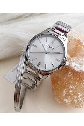 Homies Marka Bayan Kol Saati Çelik Bileklik Hediyeli Hms-30220