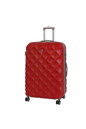 ITLUGGAGE Unisex Kırmızı Abs Orta Boy Valiz 2126