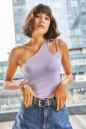 Boutiquen Kadın Lila Omzu Ip Detaylı Bluz -3c-1216-lila