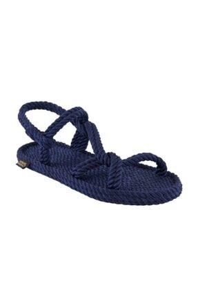 NOMADIC REPUBLIC Mykonos Kadın Lacivert Halat ve İp Sandalet