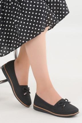 Ayakland Kadın Siyah Günlük Ortopedik Babet Ayakkabı