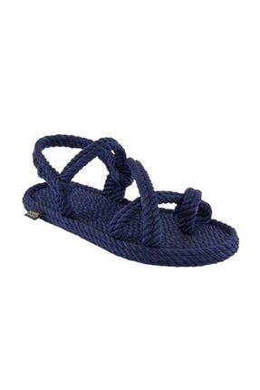 NOMADIC REPUBLIC Kadın Lacivert Capri  Halat Ip Sandalet