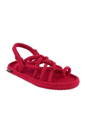 NOMADIC REPUBLIC Kadın Kırmızı Halat İp Sandalet