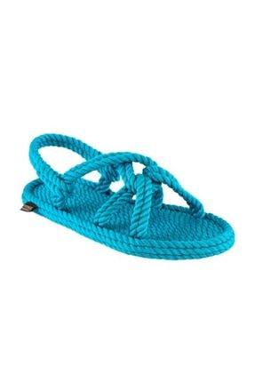 NOMADIC REPUBLIC Kadın Turkuaz Halat İp Sandalet