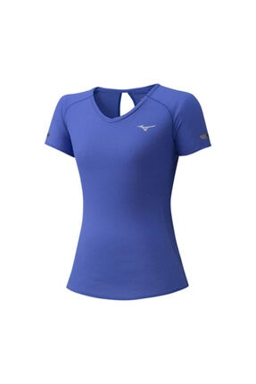Mizuno Kadın Mavi  Kısa Kollu Spor T-Shirt