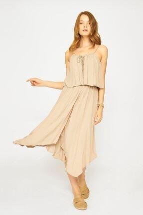 Batik Kadın Bej Düz Casual Elbise