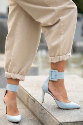 Mio Gusto Olimpia Mavi Topuklu Ayakkabı