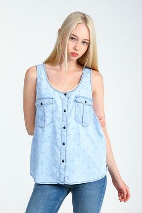 Collezione Kadın Açık Mavi Gömlek