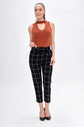 Deppoist Kadın Ekose Desen Pantolon