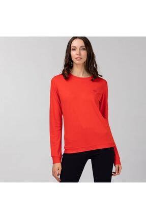 Lacoste Kadın Bisiklet Yaka Kırmızı Sweatshirt SF0111