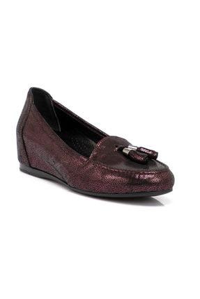 Tergan Bordo Deri Kadın Ayakkabı 64644o2t