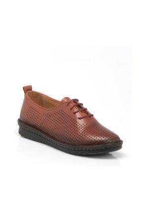 Tergan Taba Deri Kadın Ayakkabı 64344A29