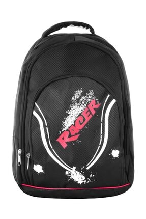 TREND Racer Unisex Laptop Bölmeli Okul Sırt Çantası Siyah 3323