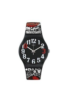 Swatch  Unisex Siyah Kol Saati Suoz322