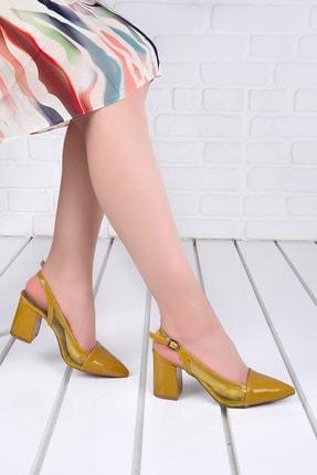 Ayakland 1022 Cilt Şeffaf 7 Cm Topuk Kadın Topuklu Sandalet Ayakkabı