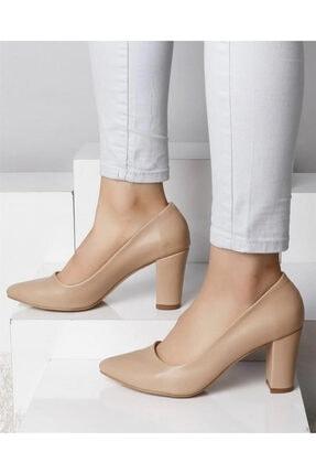 Seçil Kadın Nude Cilt Kalın Topuklu Ayakkabı