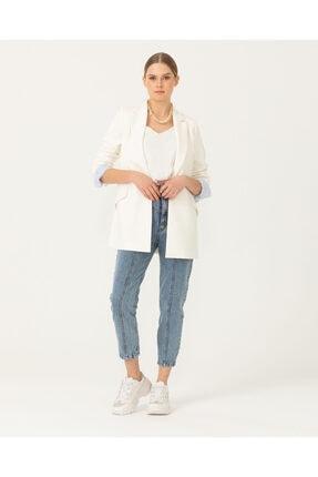 Seçil Çizgi Desen Detaylı Blazer Ceket