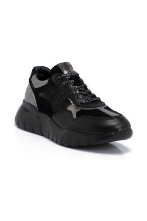 Tergan Siyah Deri Kadın Ayakkabı 64620F49