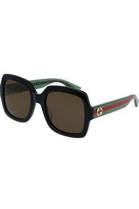 Gucci Kadın Siyah Güneş Gözlüğü Gg0036s 002 54