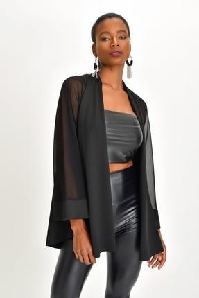 Quincey Kadın Siyah Scuba Asimetrik Tunik