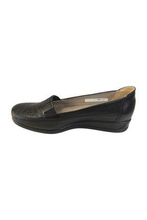 Punto Ba651414 Siyah Hakiki Deri Ortopedik Kadın Ayakkabı