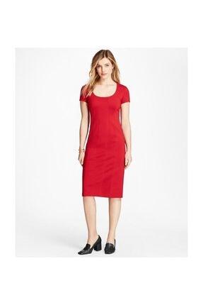 Brooks Brothers Kadın Kırmızı Midi Elbise