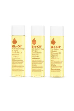 Bio Oil Natural Cilt Bakım Yağı 125 Ml X3 Adet