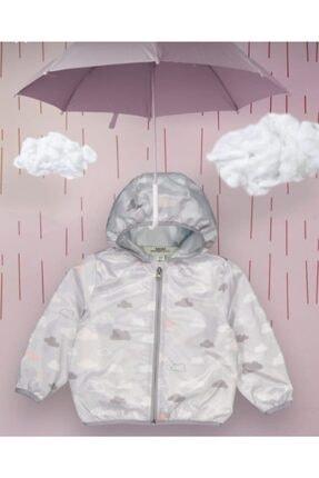 Midimod Kız Çocuk Bulut Desenli Yağmurluk