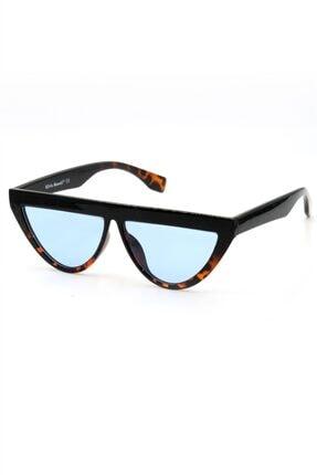 Silvio Monetti Kadın Mavi Leopar Güneş Gözlüğü Uv400 - 3sm2073ar007