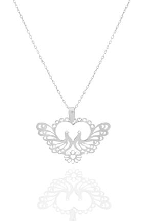 Midyat Gümüş Dünyası Güvercin Model Gümüş Kolye
