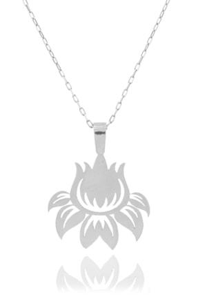Midyat Gümüş Dünyası Çiçek Model Gümüş Kolye