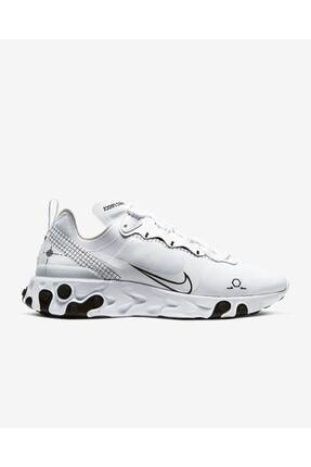 Nike Unisex Beyaz React Element 55 / Cu3009-100 Spor Ayakkabı