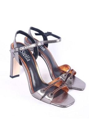 Stella Kadın Topuklu Ayakkabı 21699 - Platin - 37