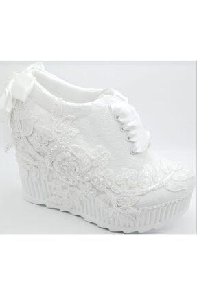 Punto Dolgu Taban Gelin Ayakkabısı