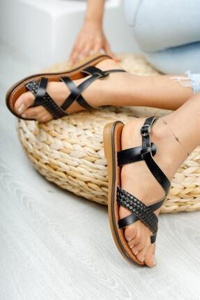 Muggo Mghelen04 Hakiki Deri Kadın Parmak Arası Sandalet