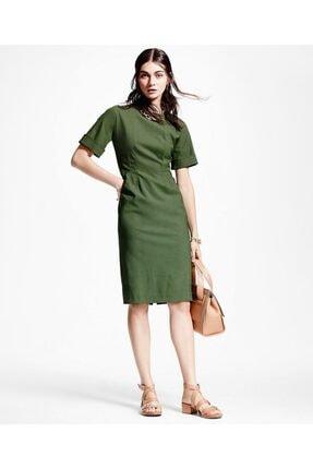 Brooks Brothers Kadın Yeşil Pilili Elbise