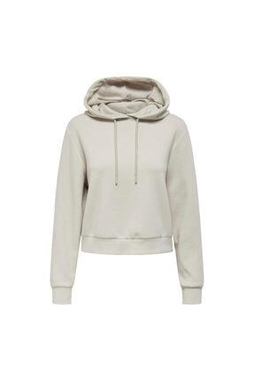Only Kadın Gri Kapüşonlu Sweatshirt