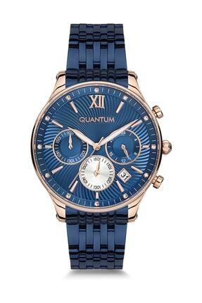 Quantum Kadın Mavi Yuvarlak Kol Saati