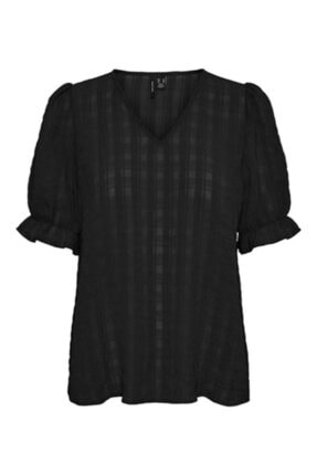 Vero Moda Kadın Siyah Bluz Vmkimm 2/4 Top Wvn