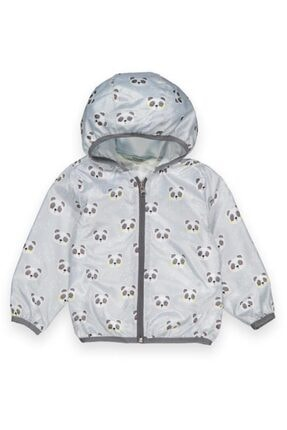 Midimod Gri Panda 4 Yaş Kız Yağmurluk