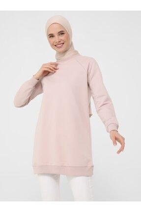 Refka Basic Sweatshirt - Derin Pembe - Basic