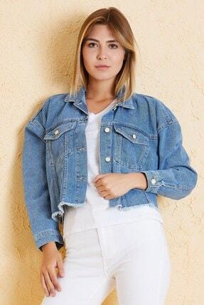 Twister Jeans Kadın Mavi Kot Ceket