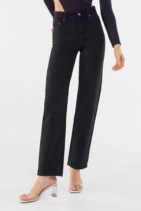 Bershka Kadın Siyah Fit Yüksek Bel Jean
